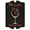 Custom Tavern Shaped Wood Bar Sign - Winery and Cellar