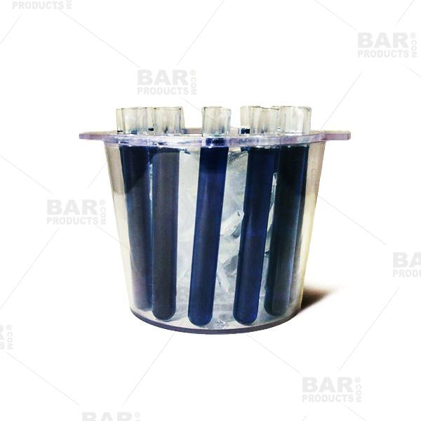 BarConic® Test Tube Ice Bucket Shooter Tray - 12 Test Tubes - Clear