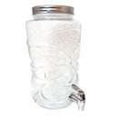 BarConic Tiki Beverage Dispenser Glass - w/ Tap - 1.6 Gallons