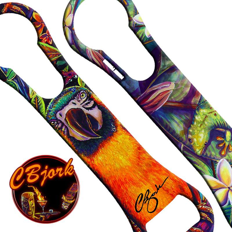 Tiki Parrot V-Rod® Bottle Opener