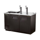 True® Dual Solid Swing Door, Club Top, Direct Draw Beer Dispenser for 2 Barrels