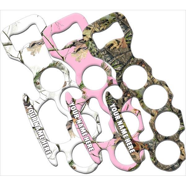 ADD YOUR NAME Knuckle Buster Bottle Opener - Camo