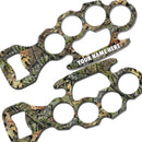 ADD YOUR NAME Knuckle Buster Bottle Opener - Green Camo
