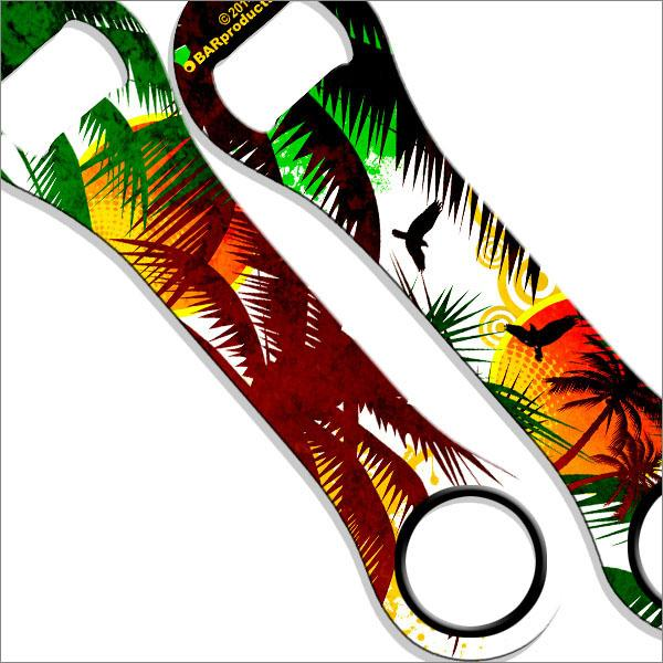 Kolorcoat™ Dog Bone Bottle Opener - Cool Tropics