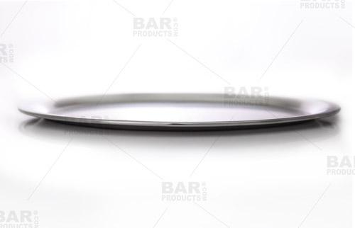 "Stainless Steel Oval Serving Tray - 10.5""x8.25"""