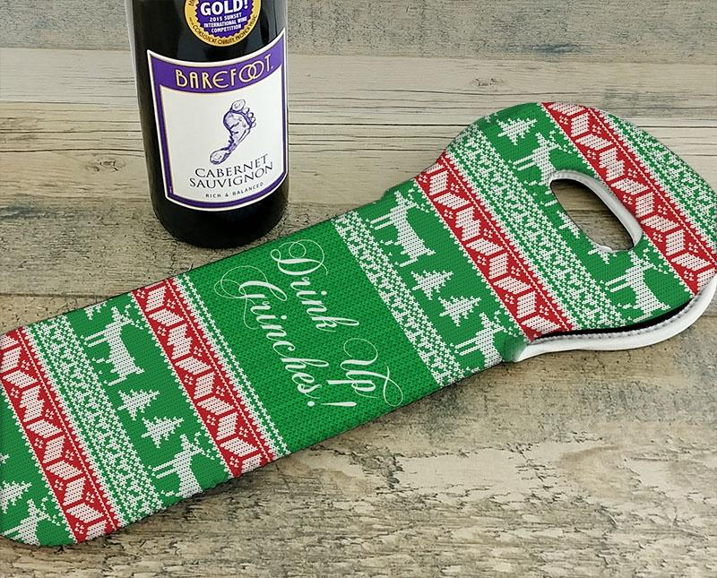 Wine Totes - Ugly Christmas Sweater Series - Several Design Options
