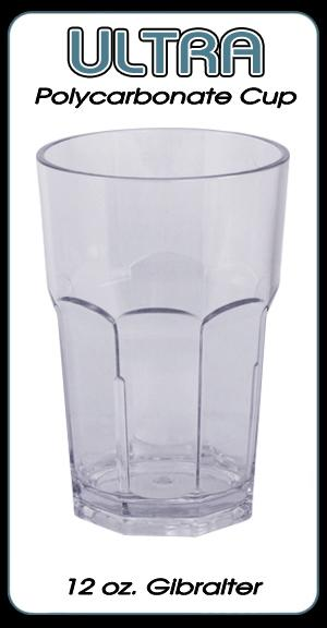 Ultra Polycarbonate Glass - Gibralter Style - 12 ounce