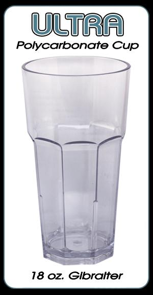 Ultra Polycarbonate Glass - Gibralter Style - 18 ounce