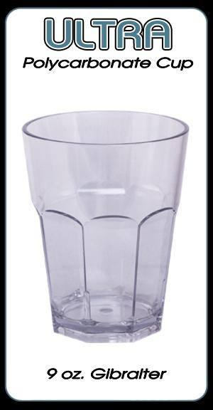 Ultra Polycarbonate Gibralter Style Glass - 9 ounce