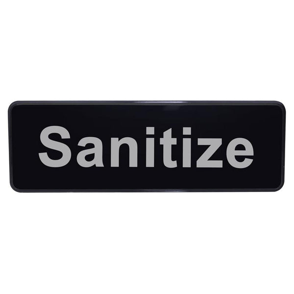 """Sanitize"" Sign - 9"" x 3"""