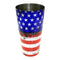 Cocktail Shaker Tin - Printed Designer Series - 28oz weighted - Grungy US Flag