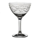 Vintage Martini Cocktail Glass - Dots and Lace Etched