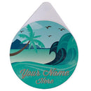 ADD YOUR NAME - Custom Glass Rimmer Lid - Vintage Surf