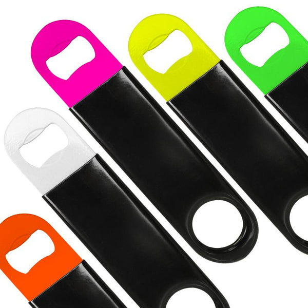 Black Vinylworks™ Coated On Speed Bottle Openers