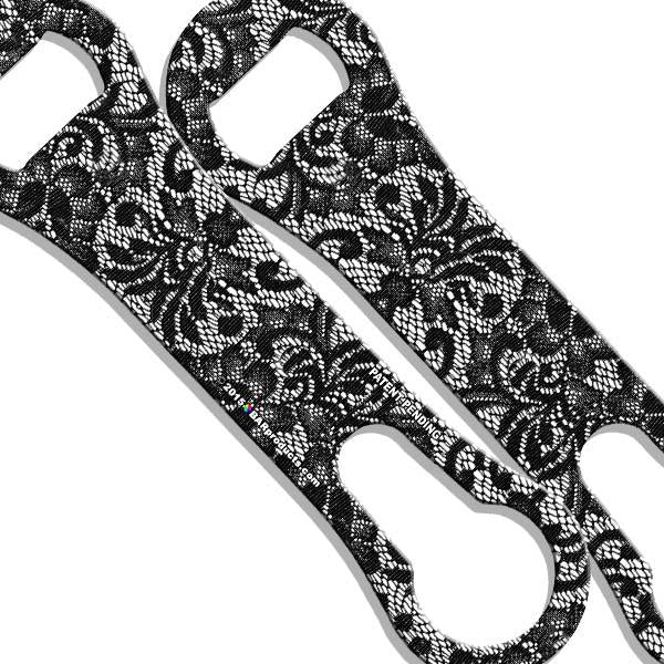 V-Rod® Bottle Opener - Black and White Lace