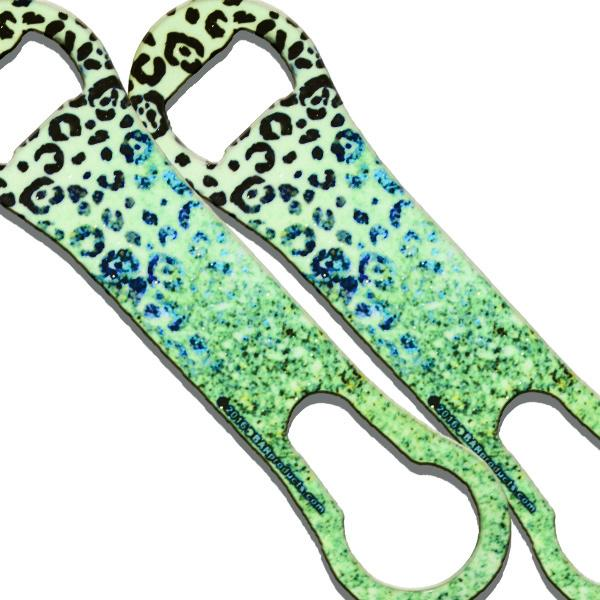 V-Rod® Green Leopard Glitter Bottle Opener