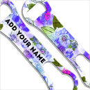 ADD YOUR NAME V-Rod® Bottle Opener - Watercolor Flowers Purple