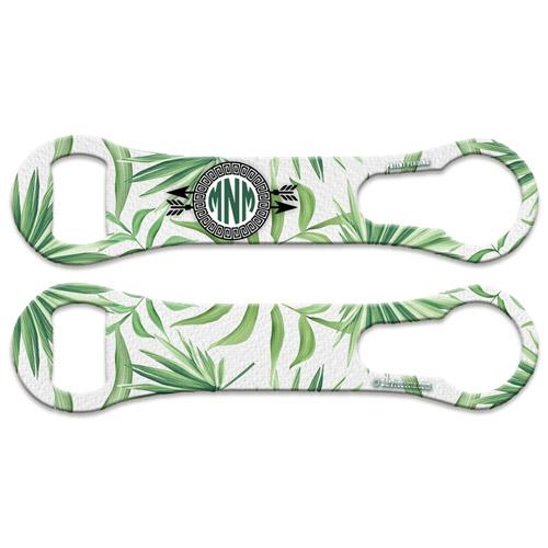 Green Palms - Monogram V-Rod® Bottle Opener
