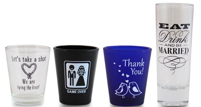Wedding Themed Shot Glasses