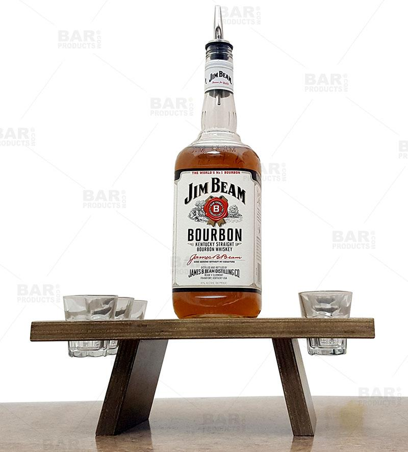 Word Collage Whiskey Caddy