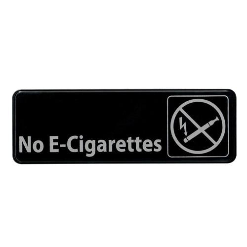 """No E-Cigarettes"" Sign - 9"" x 3"""