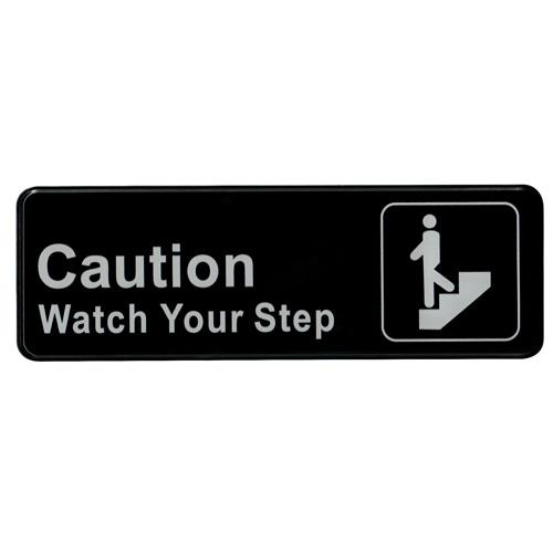 """Watch Your Step"" Sign - 9"" x 3"""