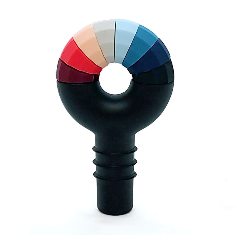 Silicone Bottle Stopper with 8 Color-Coded Wine Charms