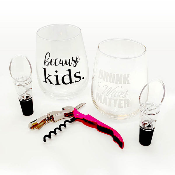 Wine Gift Set for Mom - 5 piece