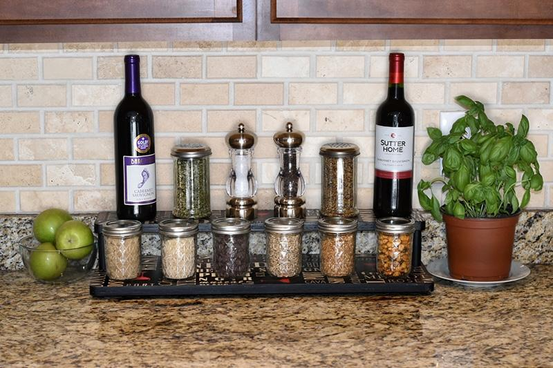 "Counter Caddies™ - WINE Theme - 24"" STRAIGHT Shelf"