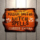CUSTOMIZABLE Tavern Shaped Halloween Wood Sign - Witch Spells