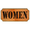Women Wood Plaque Kolorcoat™ Sign