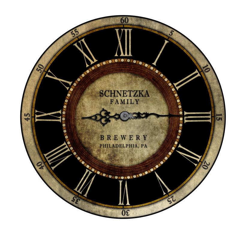 CUSTOMIZE - Rustic Wooden Clock - Brewery - Multiple Sizes