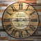 CUSTOMIZE - Rustic Wooden Clock - Family Theme - Multiple Sizes