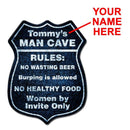 CUSTOMIZABLE Wood Shield Plaque - Man Cave - MULTIPLE COLORS - Two Sizes