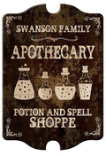 Custom Wood Sign - Tavern Shaped - Apothecary
