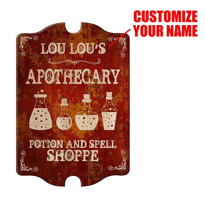 Custom Apothecary Wood Sign - Tavern Shaped