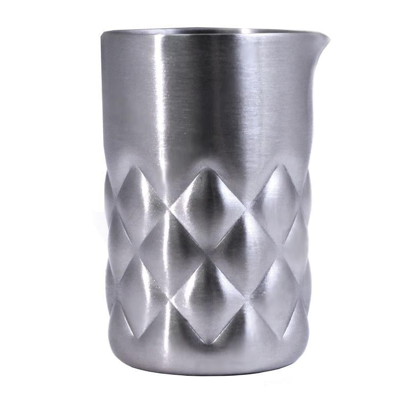 Final Touch® Stainless Steel Diamond Pattern Jigger - Spouted
