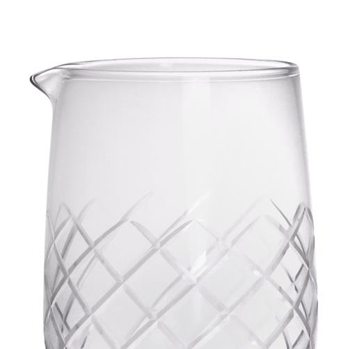 BarConic® Stemmed Diamond Pattern Mixing Glass - 30 ounce