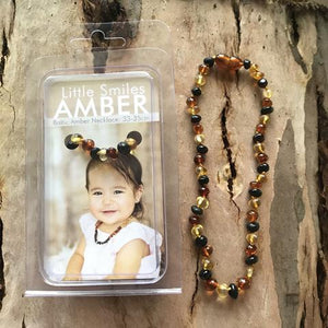 Dark Multi Baltic Amber Teething Necklace