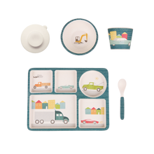 Load image into Gallery viewer, Bamboo Divided Plate Set - Cars