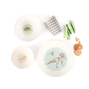 Bamboo 4 Piece Set - T-Rex Supper