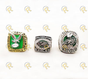 NEW Philadelphia Eagles Super Bowl Ring Set (1980, 2004, 2018) - Championship Rings