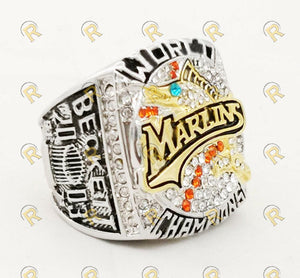 Blue Eyed Florida Marlins World Series Ring (2003) - Premium Series - Championship Rings