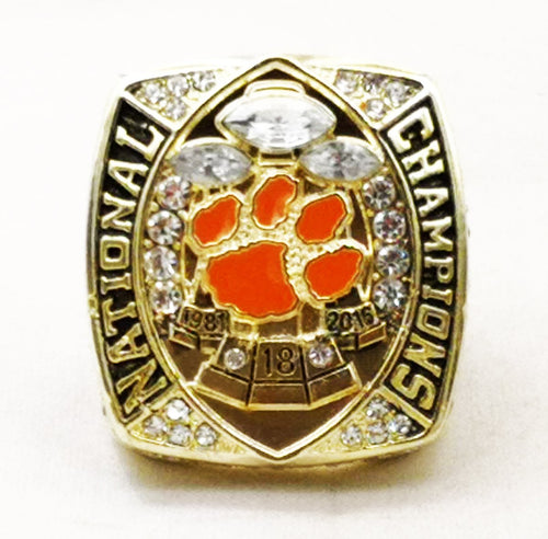 Clemson Tigers College National Championship Ring (2018) Fan Ring - Championship Rings