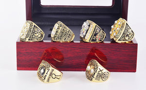 Pittsburgh Steelers Super Bowl Ring Set (1974, 1975, 1978, 1979, 2005, 2008) - Championship Rings