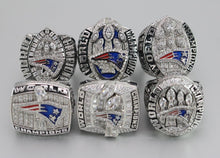 SPECIAL EDITION New England Patriots Super Bowl Ring Set (2002, 2004, 2005, 2015, 2017, 2019) - Premium Series
