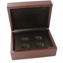 Solid Wooden Display Box (4 Holes) - Championship Rings