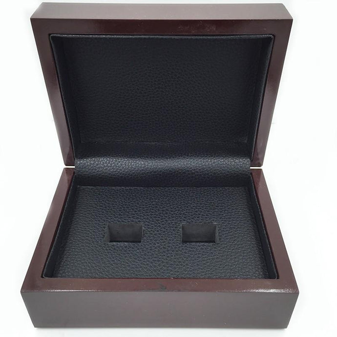 Solid Wooden Display Box (2 Holes) - Championship Rings