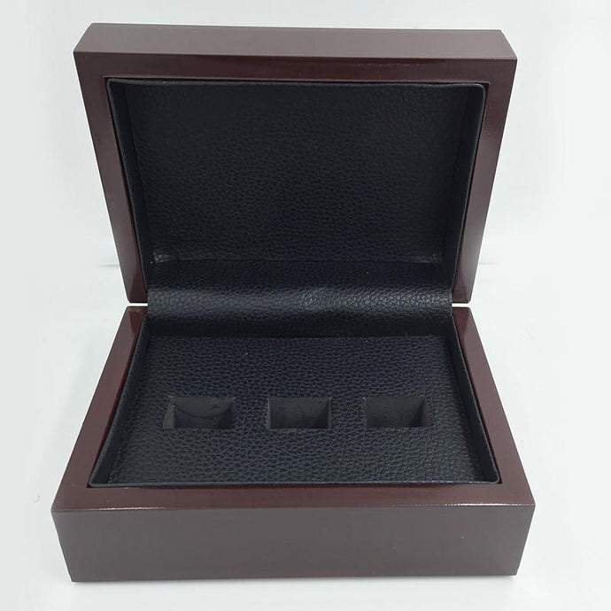 Solid Wooden Display Box (3 Holes) - Championship Rings