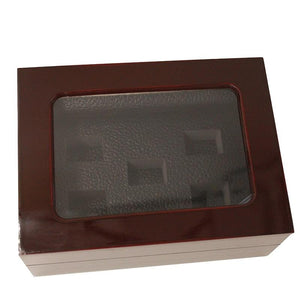 Solid Wooden Display Box with Clear Display (5 Holes) - Championship Rings